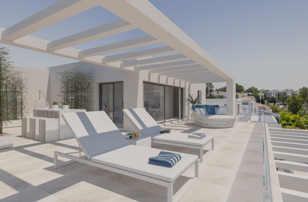 ARFA1201 - Project for modern apartments and penthouses for sale near El Paraiso in Estepona