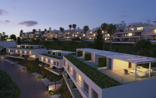 ARFTH142 - Project for modern townhouses in Cancelada in Estepona